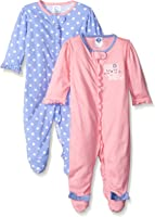 Gerber Baby Girls' 2 Pack Zip Front Sleep 'n Play, Birdie, -3 Months