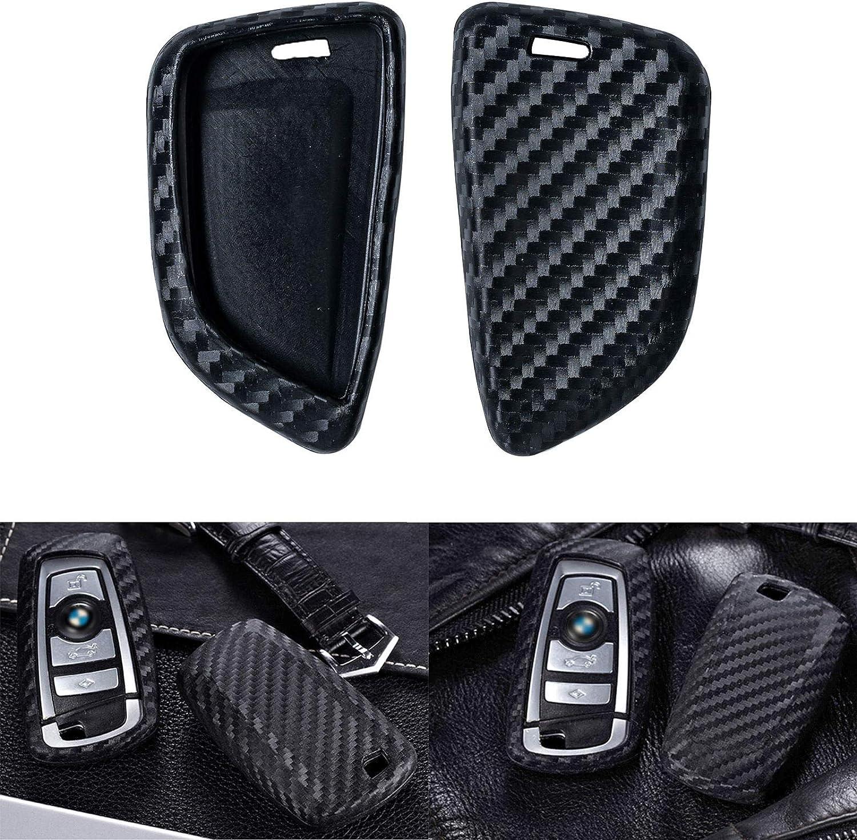 Real Leather Smart Key Case Cover Trim fit BMW key fob X5 X6 F15 F16 2015 2016 2017 2018