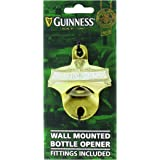 Guinness Green Collection Wall Mounted Bottle Opener - Metal Bottle Cap Remover