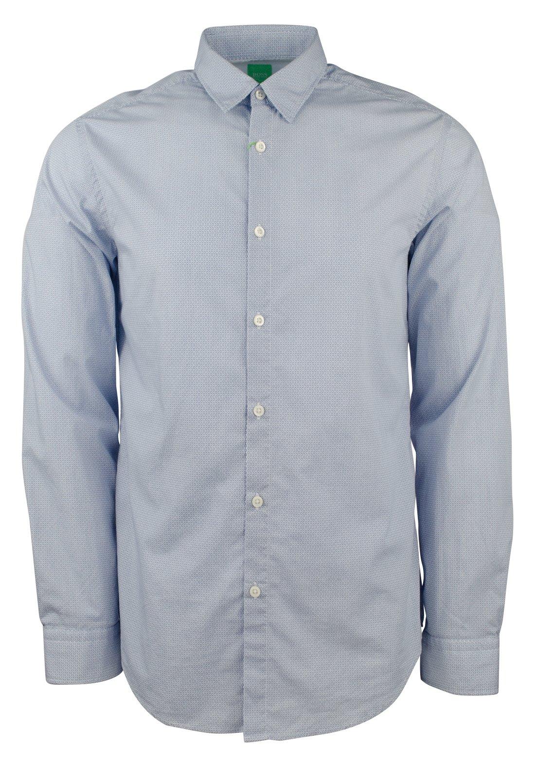 Hugo Boss Men's Green Label C-Bustai Patterned Regular Fit Shirt-BW-L