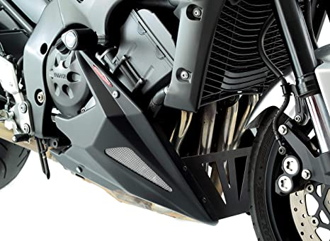 Motorbikes, Accessories & Parts YAMAHA FZ-1N/FZ1000 FAZER 06-15/BLACK-SILVER MESH NEW STYLE BELLY PAN Frames & Fittings