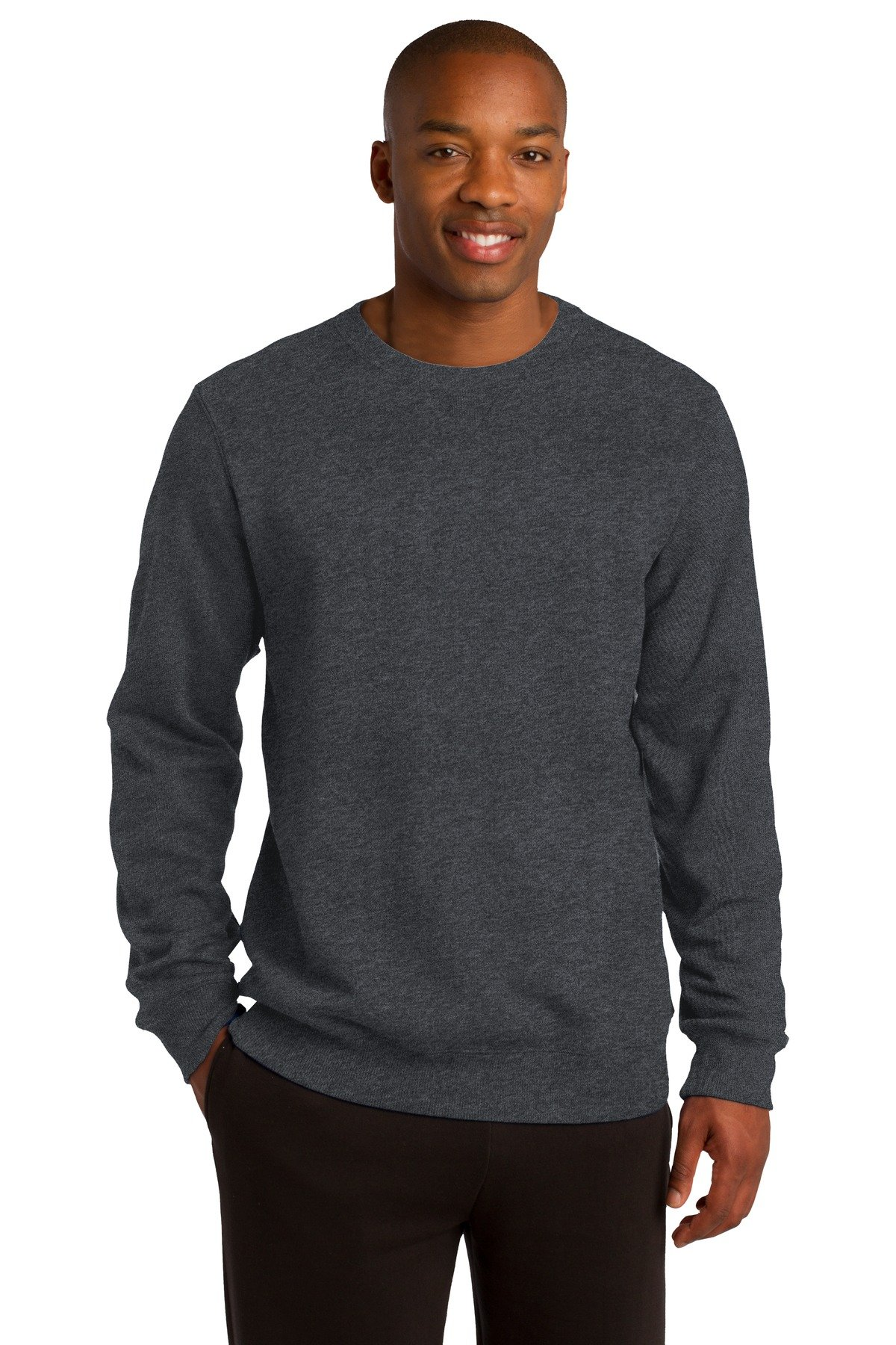 Sport-Tek Men's Crewneck Sweatshirt XXL Graphite Heather by Sport-Tek