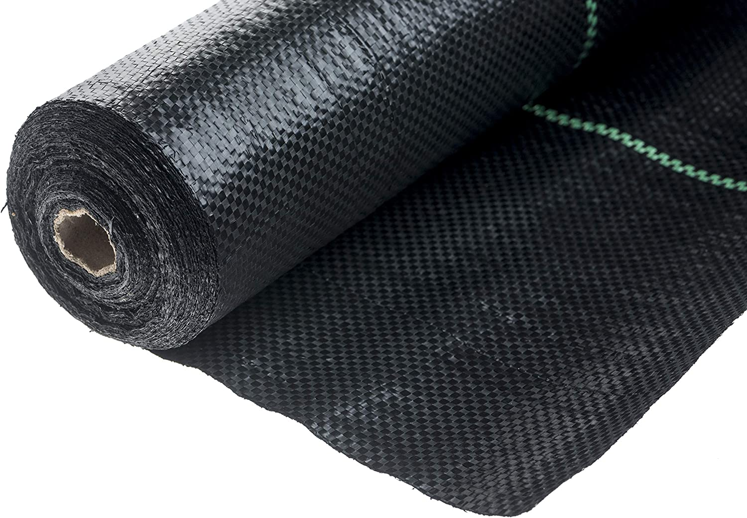For Gardens Borders and Pathways 1m x 30m Heavy Duty 100gsm Weed Control Fabric Brackit Weed Membrane Roll and Peg Set Flower Beds