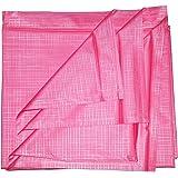 Deerosita Baby Plastic/PVC Mattress Protector Sheet/Waterproof Bedsheet (6.5 x 6 ft, Random Colour)