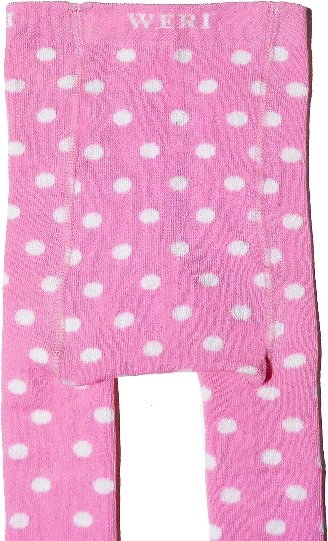 Weri Spezials Baby und Kinder Strumpfhose f/ür M/ädchen Fr/öhliche Punkte Pink in Baumwolle