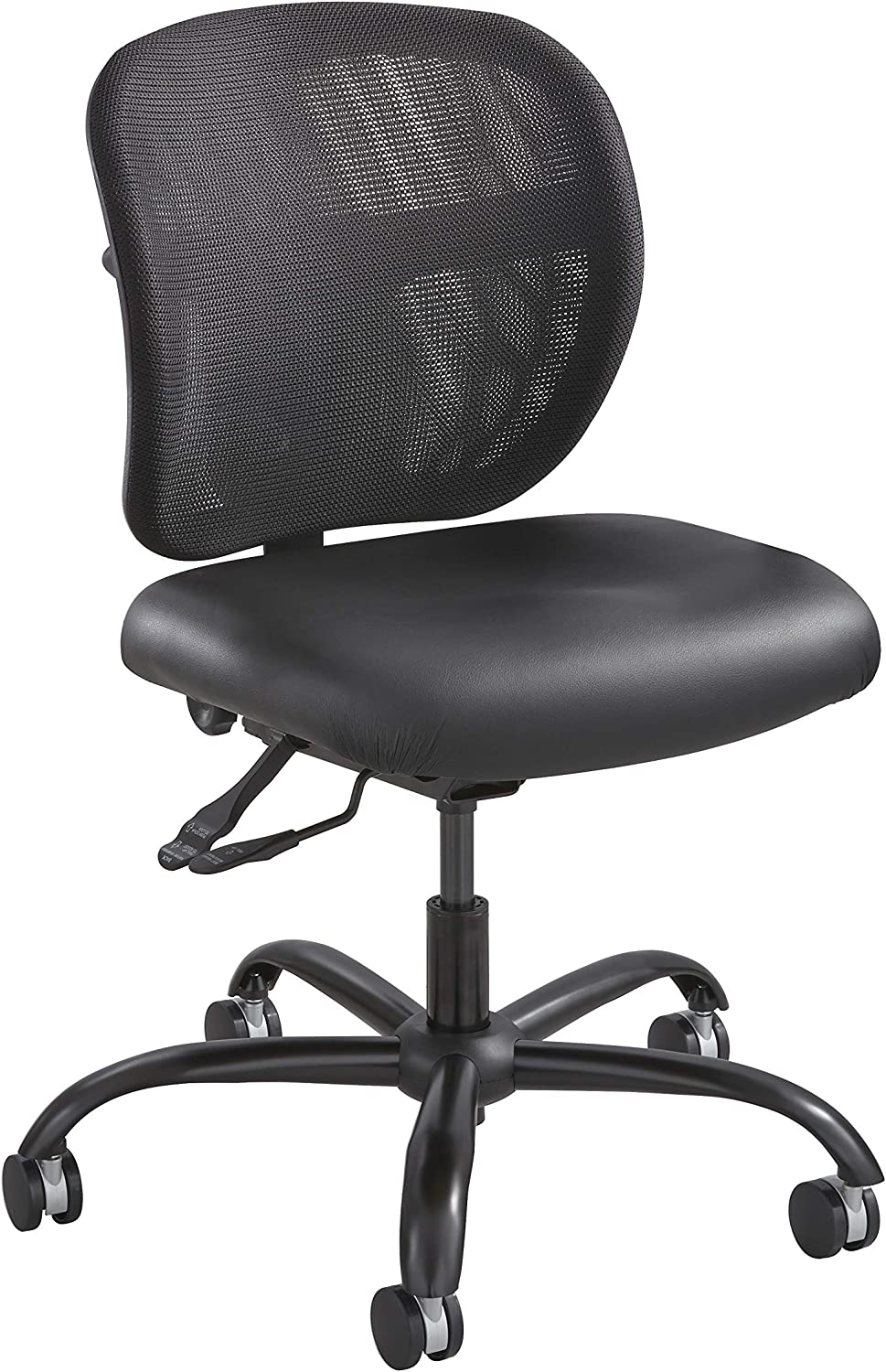 Safco Products Vue Intensive-Use Task Chair 3397BV, Rated up to 500 lbs, Cool Mesh Back, Waterfall Edge Seat