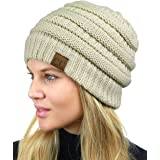 C.C Unisex Chunky Soft Stretch Cable Knit Warm...