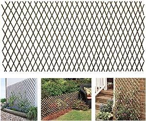 GLANT Lattice Fence Willow Expandable Plant Climbing Lattices Trellis Fence,Open Screen Willow Fencing,Willow Expandable Trellis Fence (1)