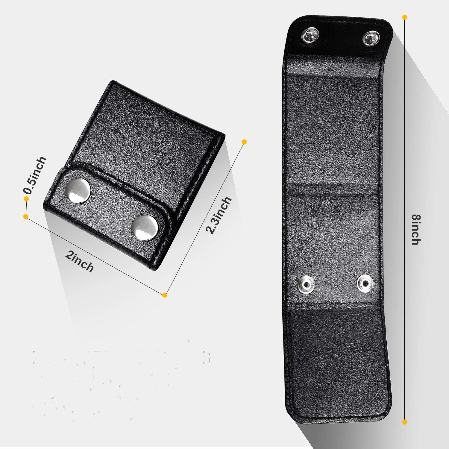 Kingwa Small and Cute Shape Seatbelt 2PCS Seatbelt Adjuster Black Use on The Car Seat Belt Safety Positioners Comfortable Auto Shoulder Neck Protector Locking Clip Cover High- Quality Leather