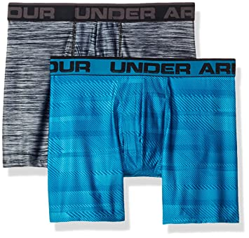Under Armour Original 6In 2 Pack Novlty Ropa Interior, Hombre, Azul, L