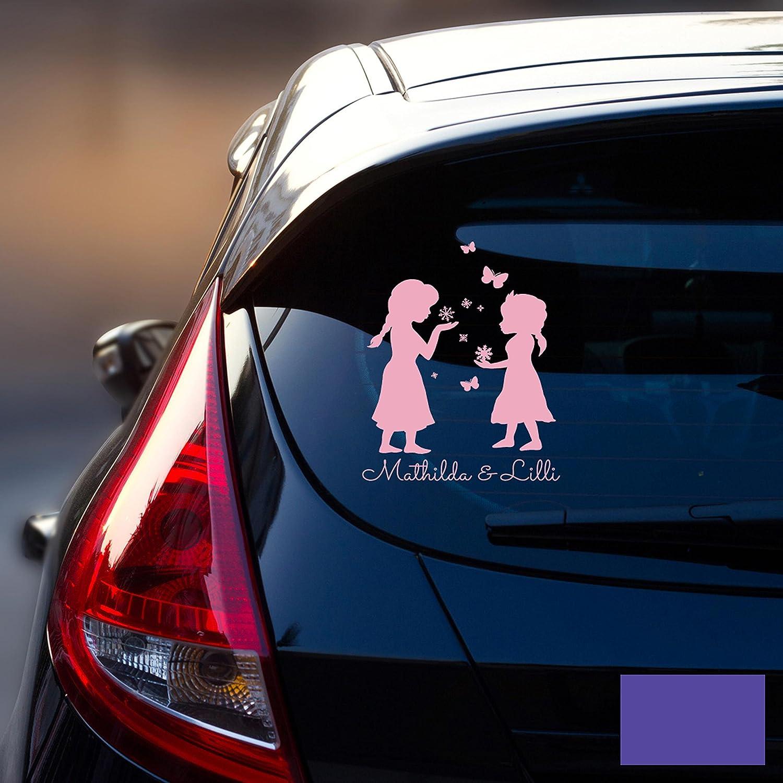 Autotattoo Heckscheibenaufkleber Fahrzeug Sticker Aufkleber Baby Schneekönigin Frozen Kinder M1872 - ausgewählte Farbe: *pink* ausgewählte Größe: *M - 18cm breit x 25cm hoch* ilka parey wandtattoo welt