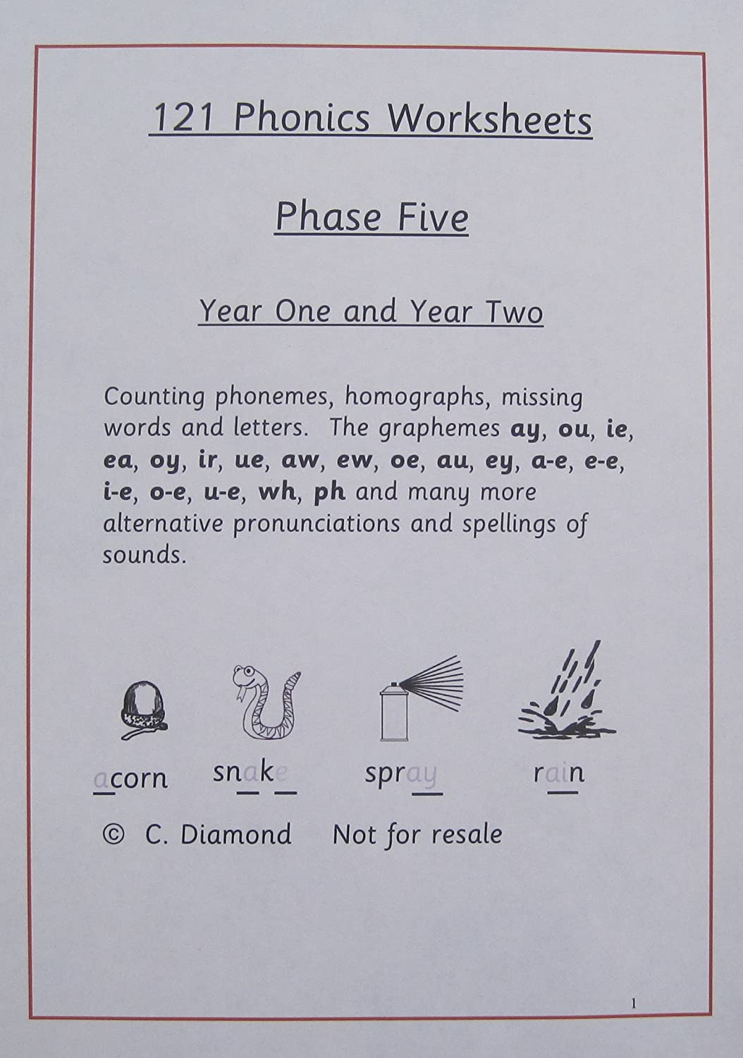 121 phase 5 phonics worksheets for ages 5 7 years pdf file to print - Worksheets To Print Out