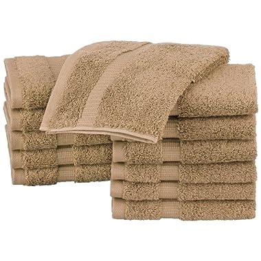 Pinzon Organic Cotton Washcloths (12 Pack), Latte