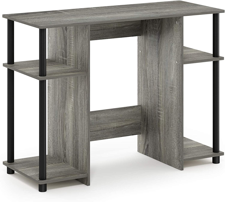 FURINNO Jaya Computer Study Desk, French Oak Grey/Black