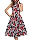 Amazon Price History for:IHOT Vintage 1950's Floral Spring Garden Party Picnic Dress Party Cocktail Dress for Women