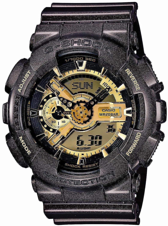 【P】【T】CASIO G-SHOCK(カシオ Gショック) GA-110BR-5A/GA110BR-5A Garish Gold Series/ガリッシュゴールドシリーズ アナデジコンビ 速度計測 メンズウォッチ 腕時計 (日本版型番:GA-110BR-5AJF/GA110BR-5AJF) [並行輸入品] B00JAEEEM2