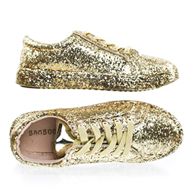Sneaker W Fashion Up Bamboo Lace Metallic Glitter Upper Covered Platformamp; y8NnmPvO0w