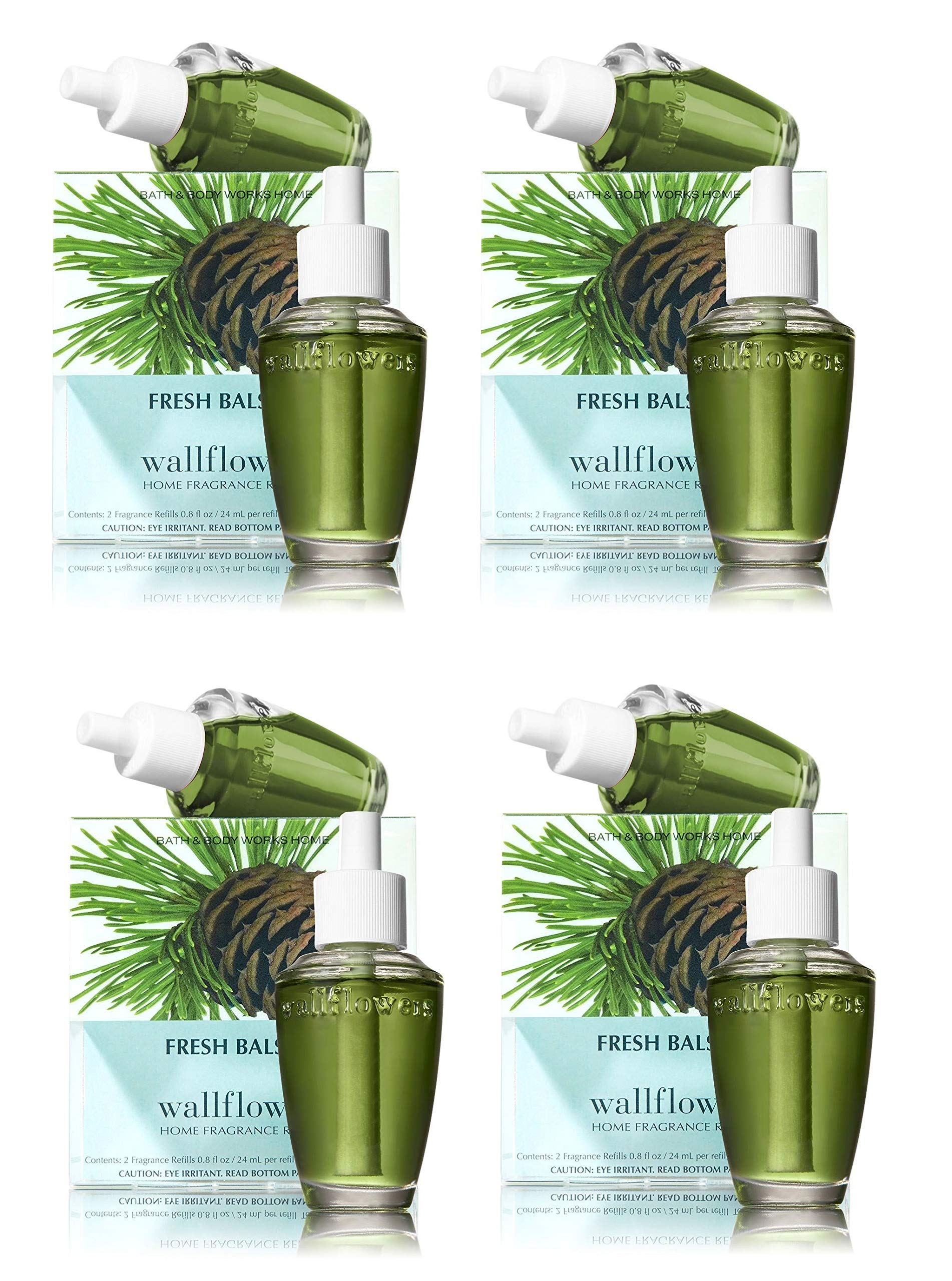 Fresh Balsam Wallflowers - EIGHT Refill Bulbs - Bath & Body Works