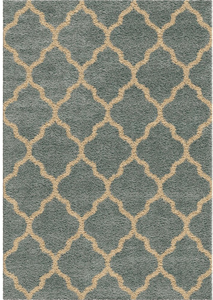 Orian Rugs Impressions Shag Malton Area Rug, 5'3'' x 7'6'', Spa Blue