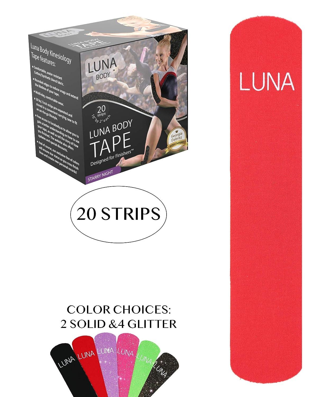 Amazon Luna Body Kinesiology Pro Tape Strips 20 Pre Cut Roll