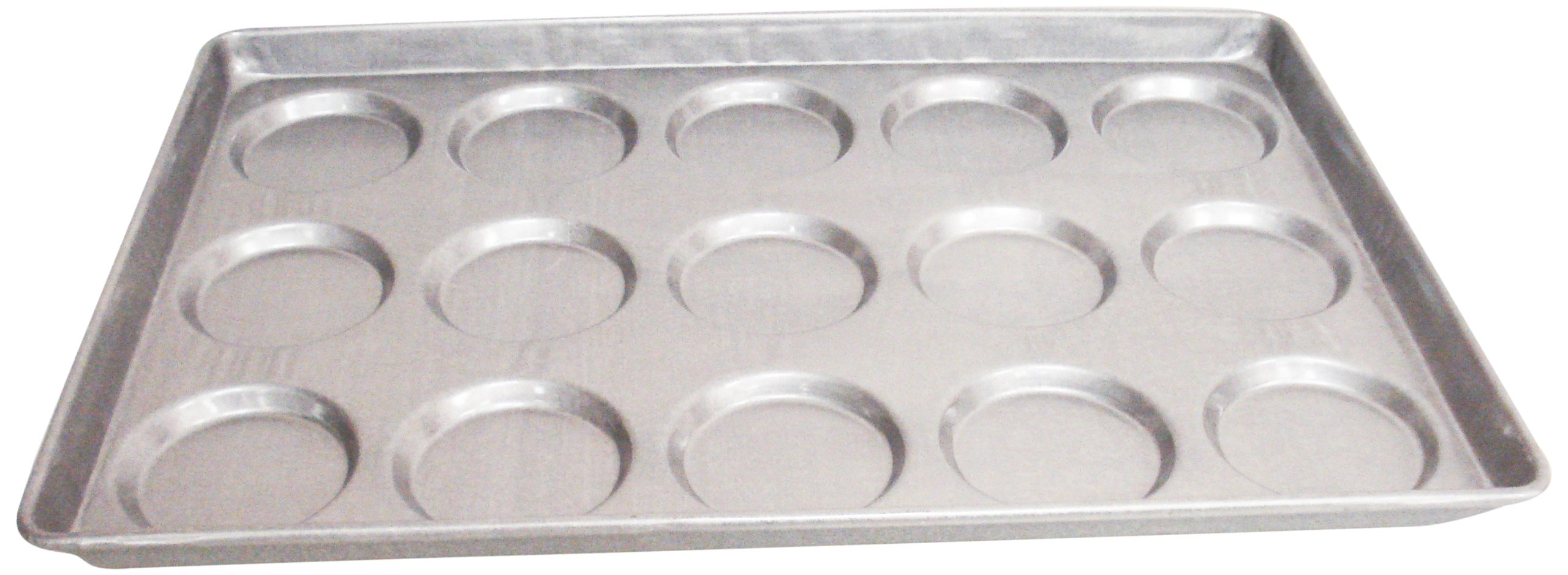 Magna Industries 14630 18-Gauge Aluminized Steel Hamburger/Muffin Top Pan, 4-1/8'' Diameter, 3 x 5 Cups Layout (Pack of 6) by Magna Industries