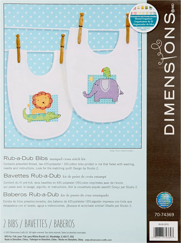 Baby Express Bibs Dimensions Needlecrafts Stamped Cross Stitch
