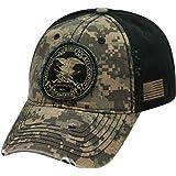 NRA Distressed Logo Digi Camo & Black Cap