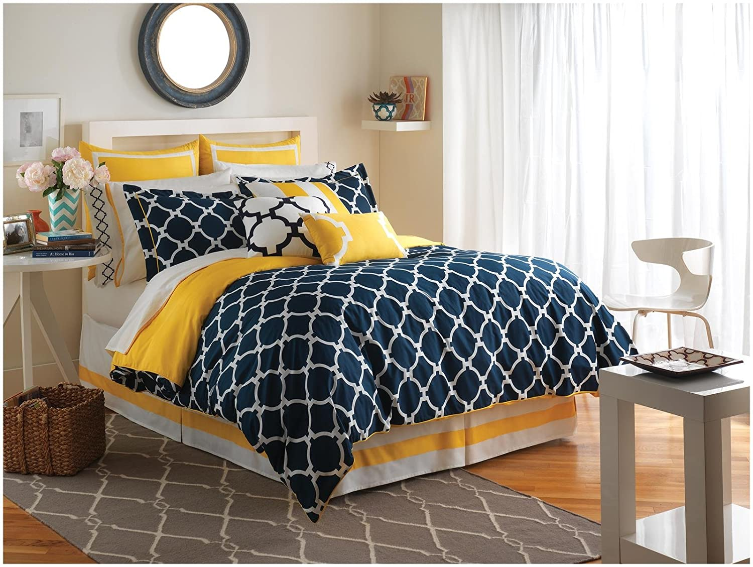 Jill Rosenwald Hampton Links Comforter Set, King, Navy