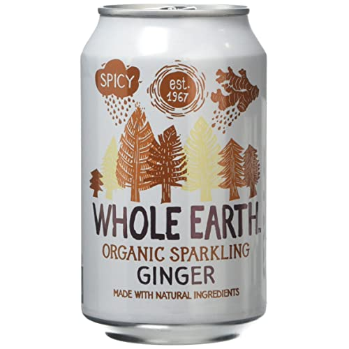 Whole Earth Organic Sparkling Ginger Drink, 330 ml, (Pack of 24)