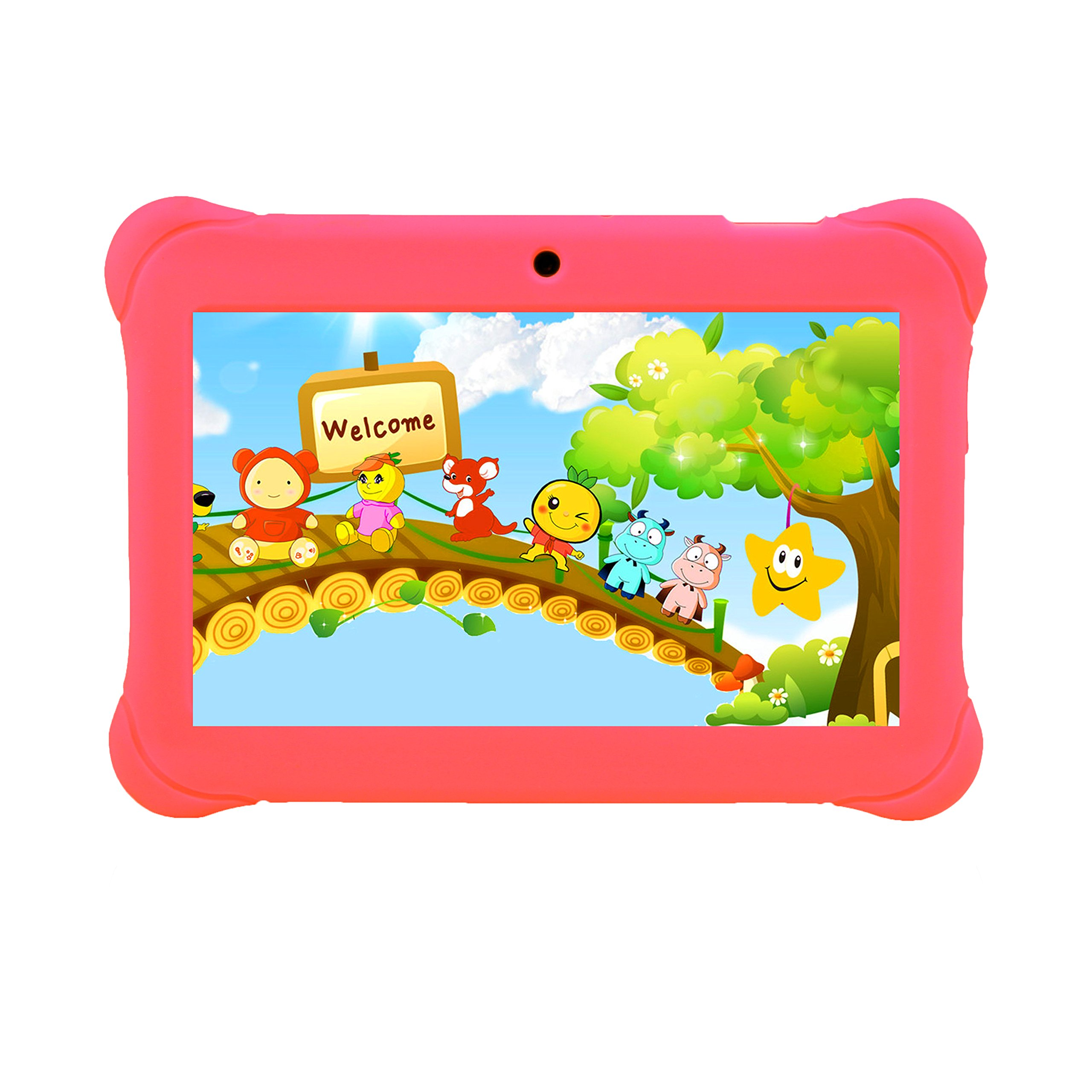 Tagital® 7'' T7K Quad Core Android Kids Tablet, with Wifi and Camera and Games, HD Kids Edition with Kid Mode Pre-Installed Pink