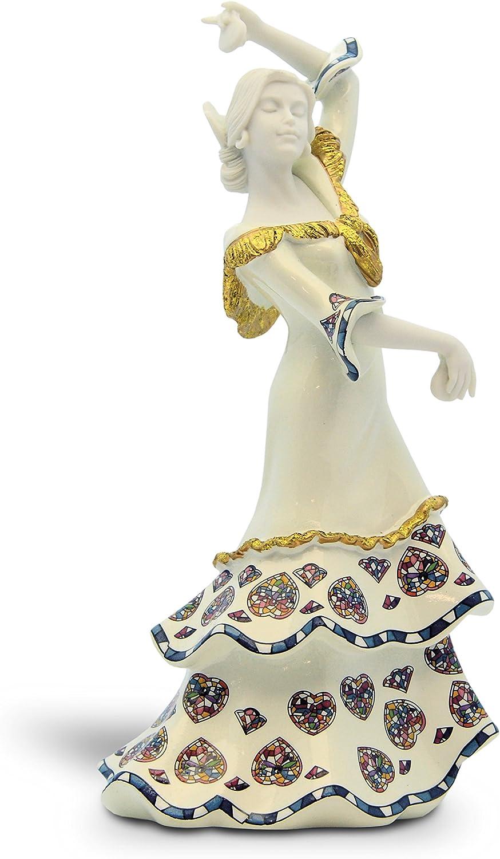Nadal Figura Gracia Española Pequeña, Acrílico, Blanco y Nácar, 5.6x12.6x8.5 cm: Amazon.es: Hogar