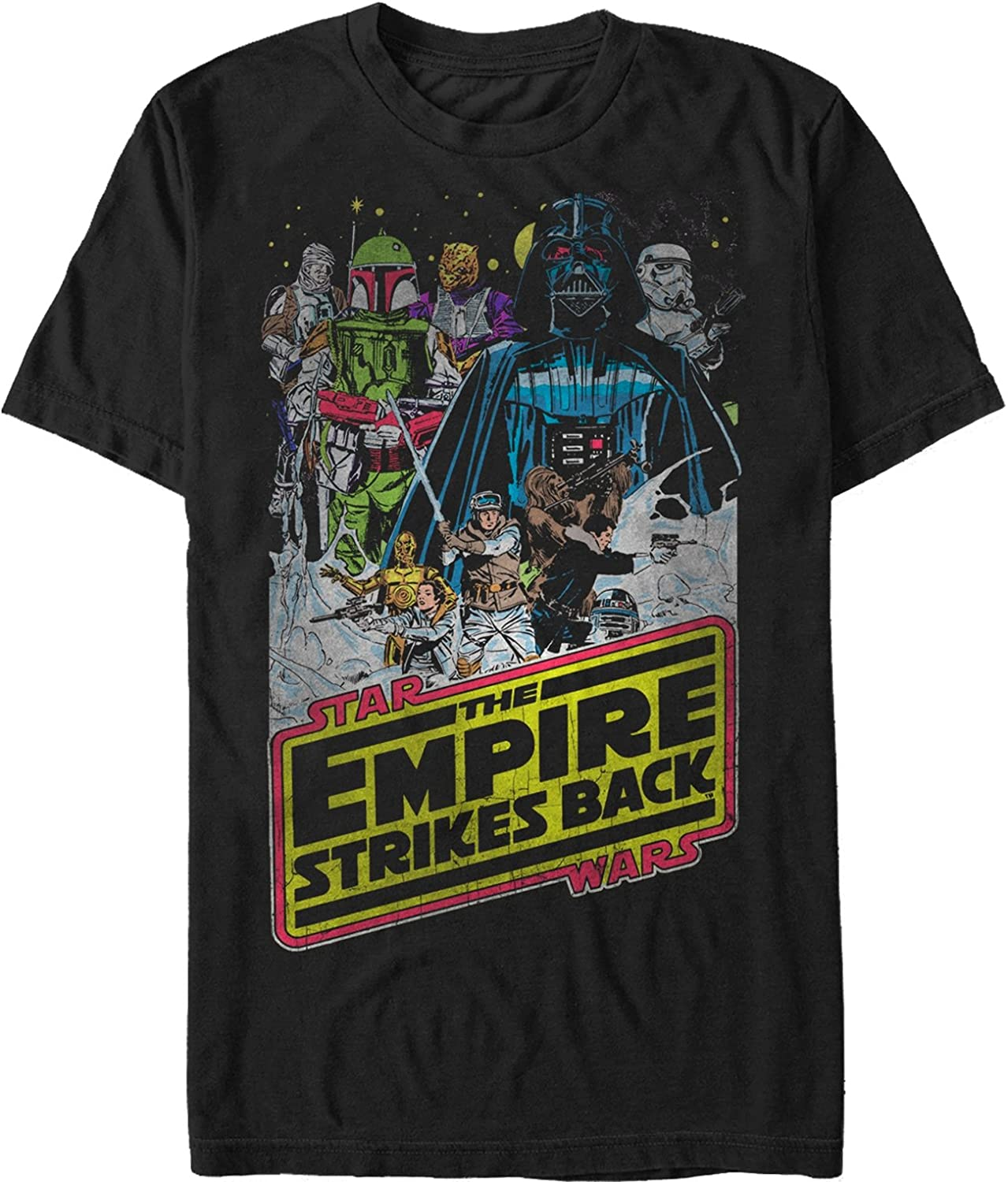 OFFICIAL Star Wars The Empire Strikes Back Classic Print Mens T-Shirt Top NEW