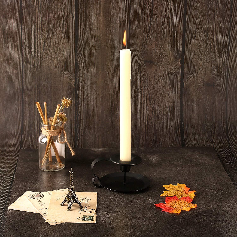 11x6cm Kerzenhalter Stabkerze Hoch Eisen Deko Kerzenleuchter GoMaihe 2er Set Vintage Kerzenst/änder mit Griff Schwarz Kerzen St/änder f/ür Valentinstag Weihnachts Halloween Hochzeit Zuhause Essen