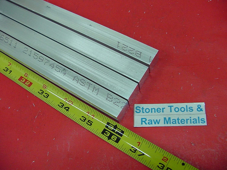 4 Pieces 5//8 X 5//8 ALUMINUM 6061 SQUARE FLAT BAR 36 long T6511 New Mill Stock