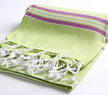 Cacala Toalla de baño turca Paradise Series, algodón, Verde, 95 x 175 x