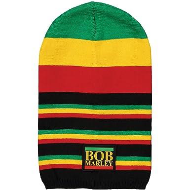 Amazon.com  Bob Marley Men s Logo Beanie Black  Clothing 6581468f6b6