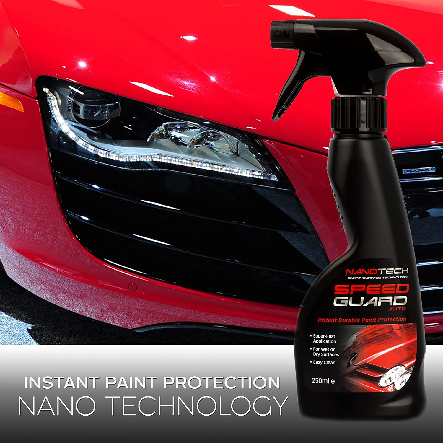 Speed guard spray replaces car wax and polish nano coating technology instant paint protection seal caravan and motorbike cleaner works on alloy
