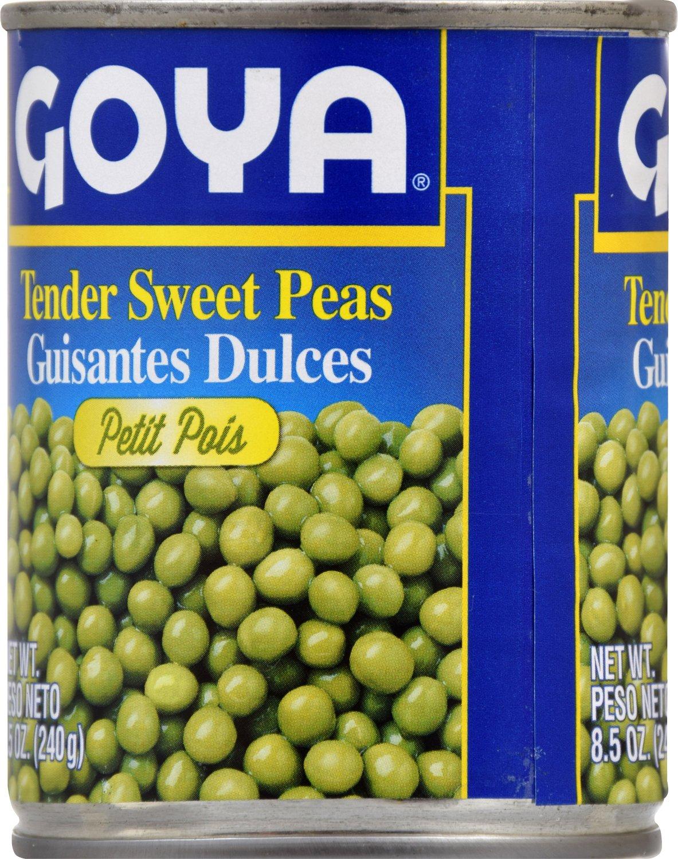 Amazon.com : Goya Foods Tender Sweet Peas, 8.5-Ounce (Pack of 24) : Peas Produce : Grocery & Gourmet Food