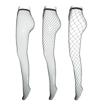 6d417aeca Fishnet Stockings for Women Teen Girls, EASILK Sexy Seamless Net Pantyhose  Tights,Black -