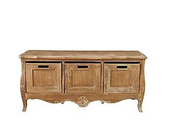 Fabulous Amari Leisure Lyon Wooden Storage Bench In French Style Ibusinesslaw Wood Chair Design Ideas Ibusinesslaworg