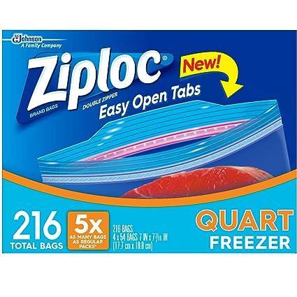 Ziploc Heavy Duty fácil de abrir Quart bolsas de congelación ...