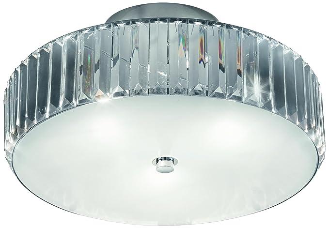 Plafoniere In Cristallo Prezzo : Reality leuchten plafoniera con cristalli in acrilico trasparente e
