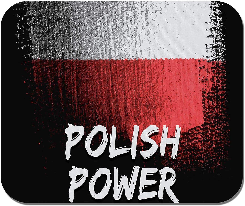 Non-Slip Rubber Mousepad Polish Power Polish Poland Flag Makoroni Gaming Office Mousepad