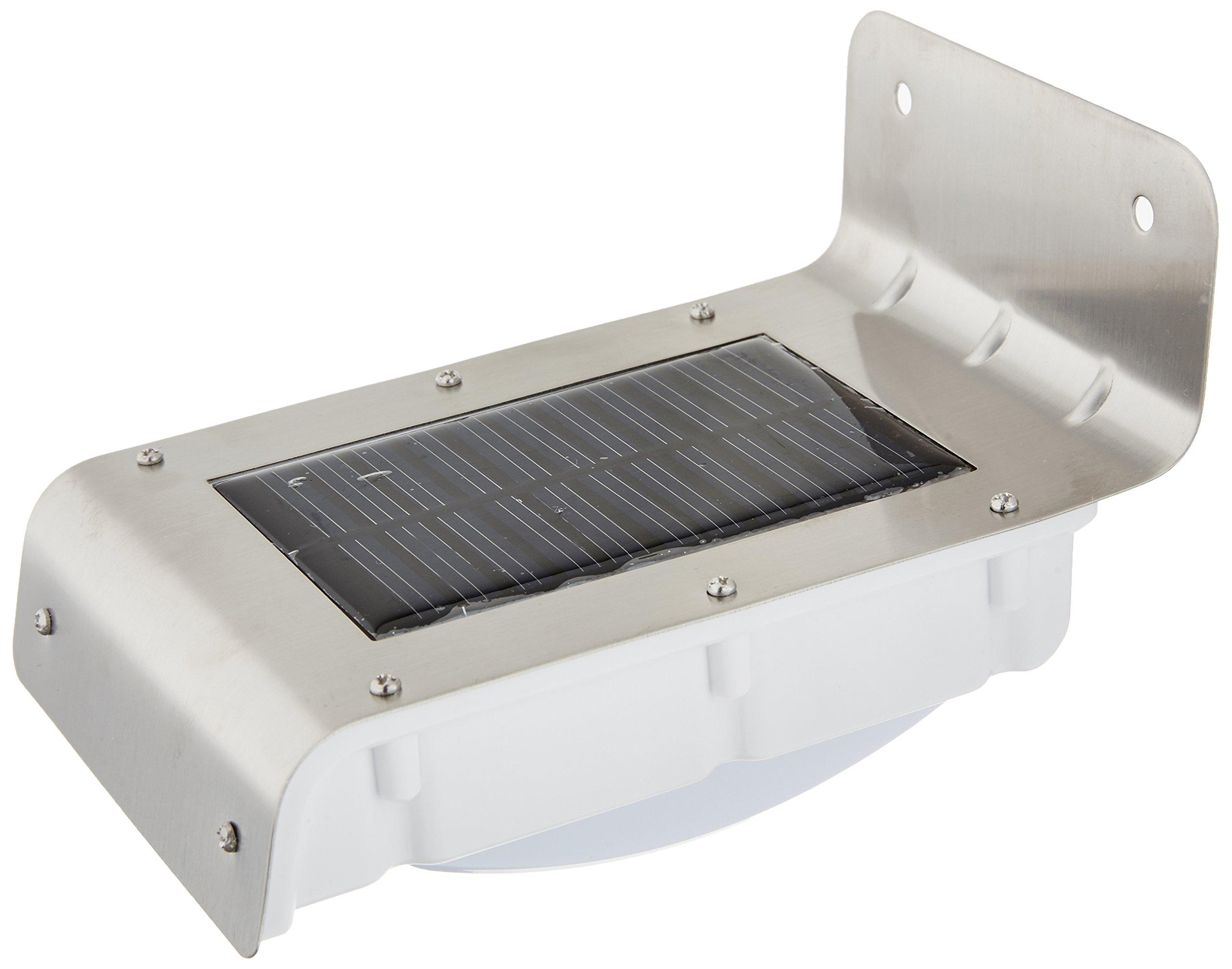 GSL SS E55 Stainless Steel Sensor Wall Mount Solar Light