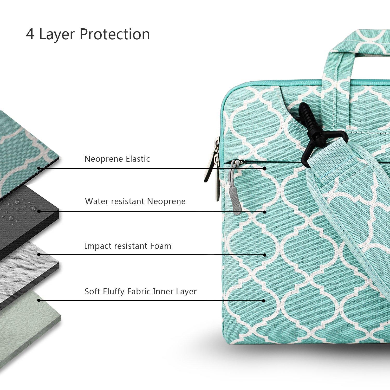 bd5d7d8bc9d9 Hseok 3-Way 15-15.6 Inch Laptop Shoulder Bag Brifecase Water ...