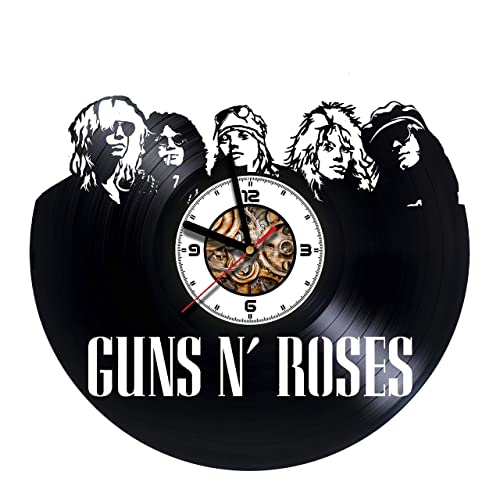 gunsnroses patience handmade vinyl wall clock get unique gifts