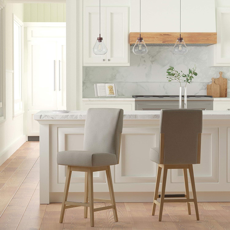 Stone /& Beam Sophia Modern Swivel Kitchen Counter Height Stool 39.4 H Chalk