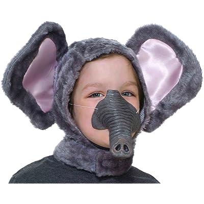 Forum Novelties Child Size Animal Costume Set, Elephant Hood and Nose Mask: Toys & Games