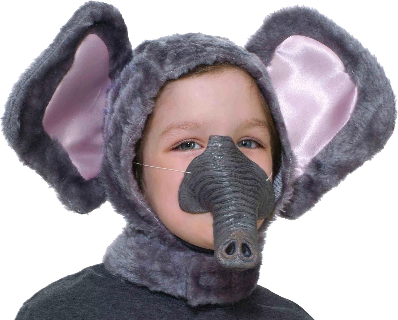 Kids Elephant Kit  Ears and Tail Set Zoo Circus Animal Kids Unisex
