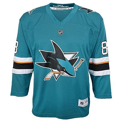 online store 30273 de2d1 Fanatics Branded Brent Burns San Jose Sharks Youth Replica Player Jersey -  Teal